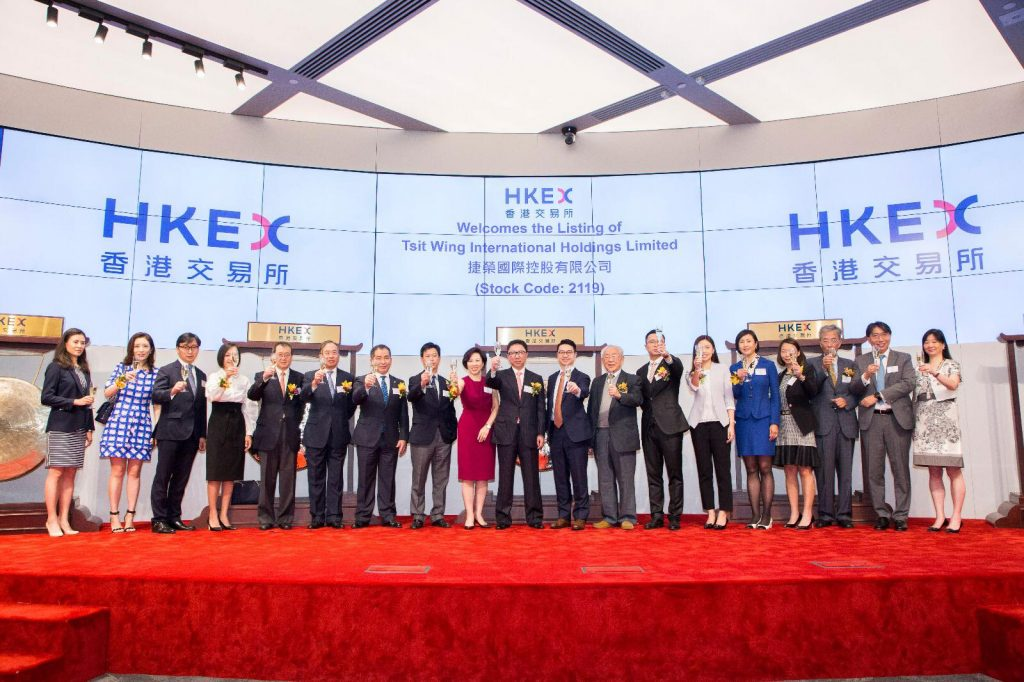 Tsit Wing International Holdings Limited is listed on Main Board